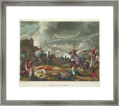 Battle Of Toulouse Framed Print