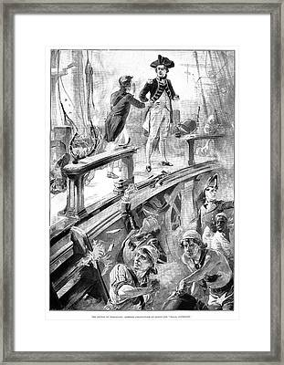 Battle Of Trafalgar, 1896 Framed Print
