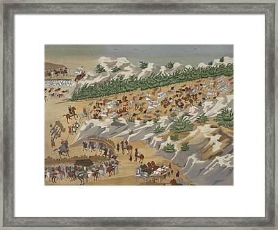 Battle Of Vasilika In 1821 Framed Print