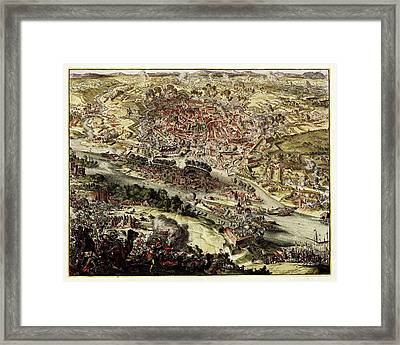Battle Of Vienna Framed Print by Library Of Congress, Geography And Map Division