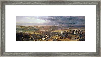 Battle Of Waterloo, 1815, 1843 Framed Print