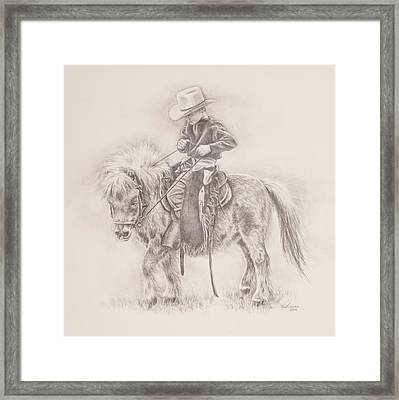 Battle Of Wills Framed Print by Kim Lockman