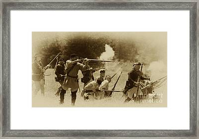 Battle Of Wyoming Framed Print by Jim Cook