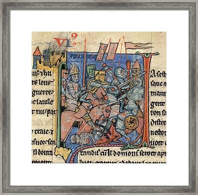Battle Scene Outside Antioch Framed Print