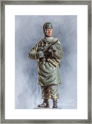 Battle Weary Panzer Grenadier Framed Print