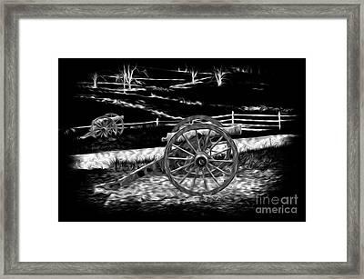 Battlefield Cannons Framed Print