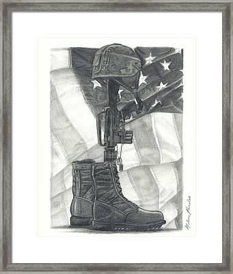 Battlefield Cross Framed Print