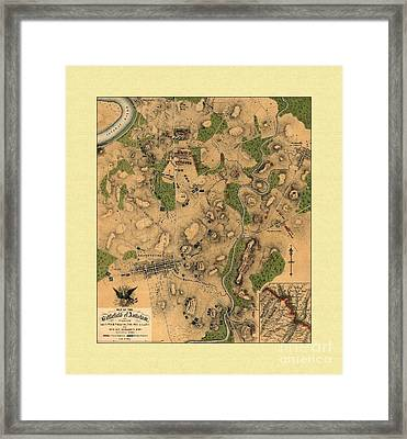 Battlefield Of Antietam Map Framed Print by Maciek Froncisz