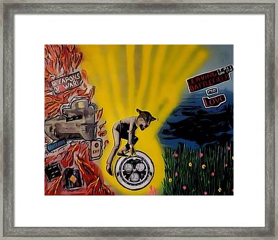 Framed Print featuring the digital art Battlefield Of Love by Lisa Piper