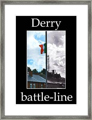 Derry Before And Now Framed Print