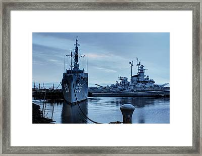 Battleship Cove Framed Print by Andrew Pacheco