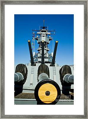 Battleship Uss Iowa 1 Framed Print