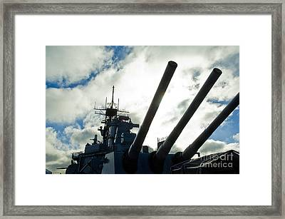 Battleship Uss Iowa 2 Framed Print