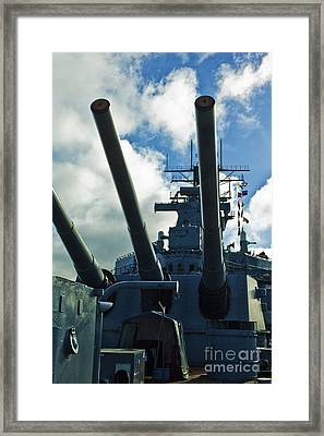 Battleship Uss Iowa 3 Framed Print