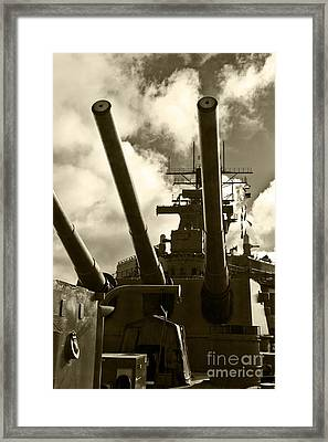 Battleship Uss Iowa 4 Framed Print
