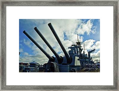 Battleship Uss Iowa 5 Framed Print