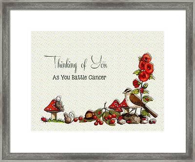 Battling Cancer Greeting Card Framed Print by Joyce Geleynse