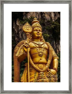 Batu Statue Framed Print by Adrian Evans
