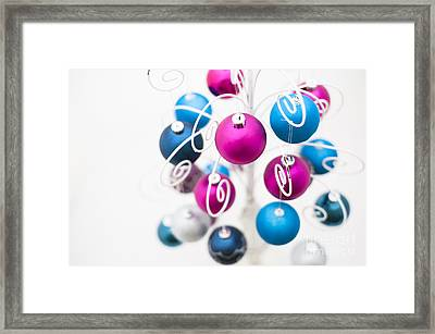Baubles From Above Framed Print by Anne Gilbert