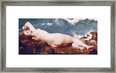 Baudry, Paul 1828-1886. The Pearl Framed Print