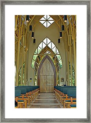 Framed Print featuring the photograph Baughman Meditation Center - Inside Front by Farol Tomson