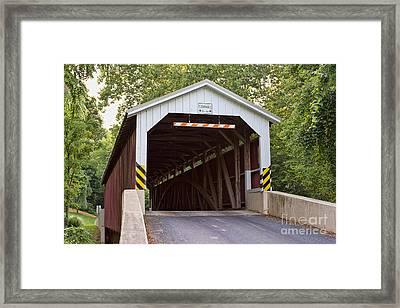 Baumgardner's Mill Covered Bridge Framed Print by Terry Weaver