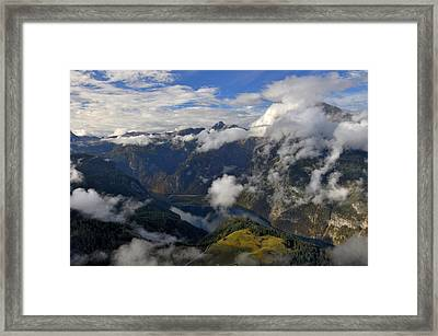 Bavarian Alps At Lake Konigssee Framed Print
