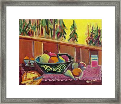 Bavarian Breakfast With Strawberry Milk Framed Print