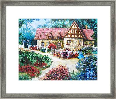 Bavarian Cottage Framed Print