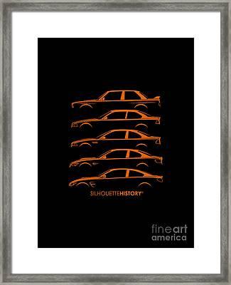 Bavarian M Three Silhouettehistory Framed Print by Gabor Vida