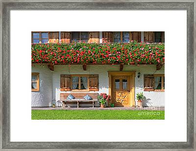 Framed Print featuring the photograph Bavarianstyle by Juergen Klust