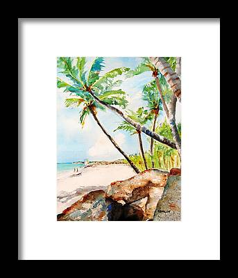Punta Cana Framed Prints