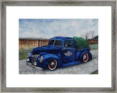 Baxter Truck Framed Print by Stacey Pilkington-Smith