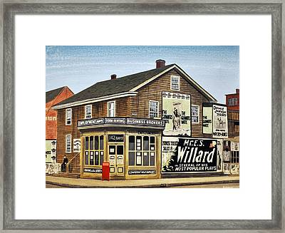 Framed Print featuring the painting Bay And Adelaide Streets 1910 by Kenneth M  Kirsch