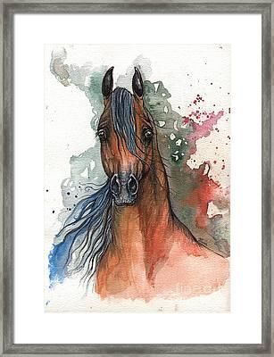 Bay Arabian Horse 2014 01 09 Framed Print by Angel  Tarantella