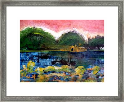 Bay Blues 025 Framed Print by Aquira Kusume