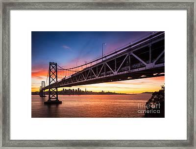 Bay Bridge Expanse Framed Print