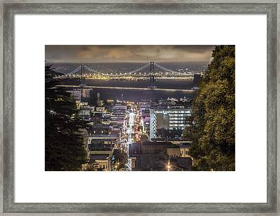 Bay Bridge In San Fransico  Framed Print by John McGraw