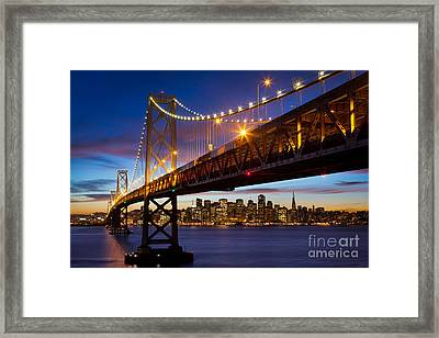 Bay Bridge Framed Print by Inge Johnsson