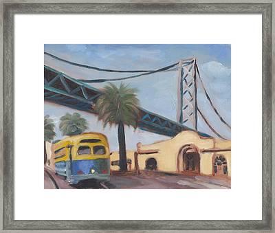 Bay Bridge Framed Print by James Lopez