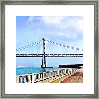 Bay Bridge Framed Print by Julie Gebhardt
