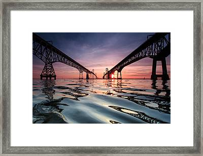 Bay Bridge Reflections Framed Print by Jennifer Casey