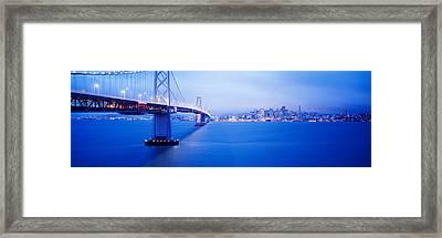 Bay Bridge San Francisco Ca Framed Print by Panoramic Images