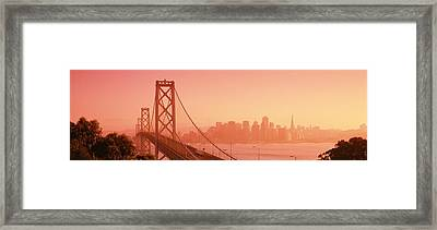Bay Bridge, Skyline, City, San Framed Print by Panoramic Images