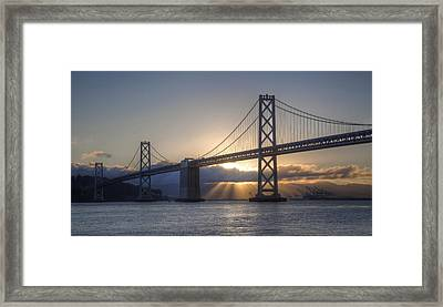 Bay Bridge Sunrise Framed Print
