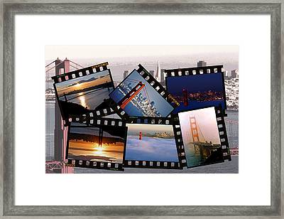 Framed Print featuring the photograph Golden Gate Collage by Christopher McKenzie