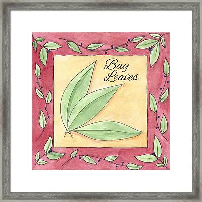 Bay Leaves Framed Print by Christy Beckwith