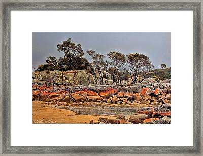 Bay Of Fires 2 Framed Print by Wallaroo Images