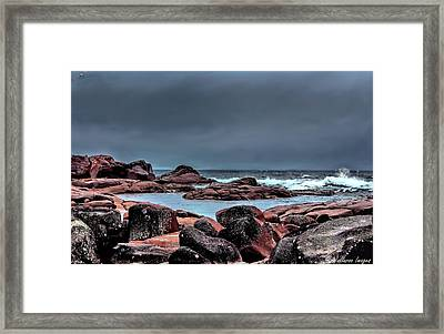 Bay Of Fires 3 Framed Print by Wallaroo Images