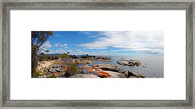 Bay Of Fires Panorama Framed Print